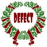 Corona roja y verde del DEFECTO de la flor ilustración del vector