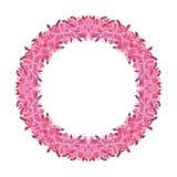 Corona rosa su fondo bianco royalty illustrazione gratis