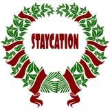 Corona rossa e verde di STAYCATION del fiore royalty illustrazione gratis