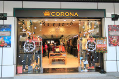 Corona shop in hong kveekoong Stock Photos
