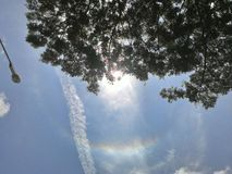 Corona in the sky stock photography