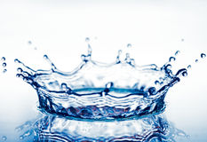 Corona from splash of  water Royalty Free Stock Images