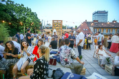 Corona Sunsets Session party in Zagreb, Croatia Royalty Free Stock Photography