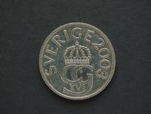 5 corona svedese & x28; SEK& x29; moneta Fotografie Stock Libere da Diritti