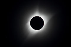 Corona Total Eclipse USA 2017. The corona is visible as the moon completely covers the sun during the total eclipse USA 2017 Royalty Free Stock Photography