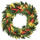 Corona tropicale di alstroemeria & di heliconia Fotografie Stock