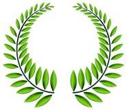 Corona verde dell'alloro Immagini Stock