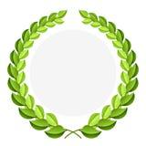 Corona verde dell'alloro di vettore Fotografia Stock