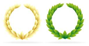 Corona verde oliva del premio Immagine Stock