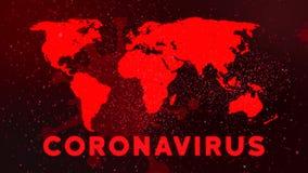 Free Corona Virus Map Disease Spreading Animation Animation. Royalty Free Stock Images - 170773799