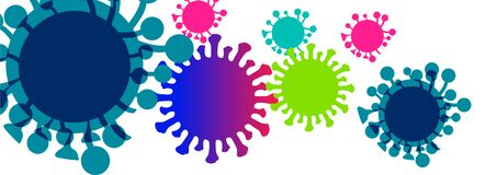 Free Corona Virus Sign With  Colors Royalty Free Stock Image - 176642696