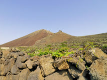 Corona Volcano on Lanzarote Stock Photo