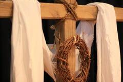 Corona y cruz Foto de archivo libre de regalías