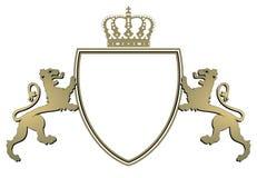 Corona y leones de la armería ilustración del vector