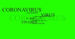 Coronabond coronavirus cells covid-19 influenza with color of europe euro, concept of corona bond crisis for economy finance