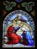 Coronación de Maria Imagenes de archivo