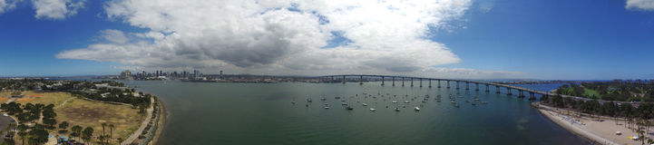 Coronado bay Bridge Panoramic Stock Photography