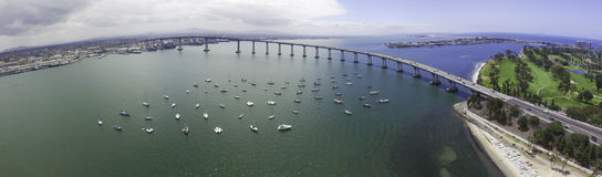 Coronado Bay Bridge Panoramic Royalty Free Stock Image