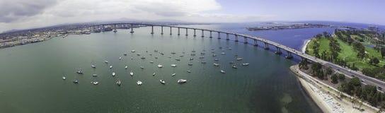 Coronado Bay Bridge Panoramic Royalty Free Stock Image