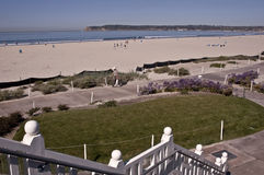 Coronado Beach. This is a picture of Coronado Beach with Point Loma in the background in San Diego Stock Image
