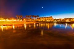 Coronado beach seen at night Stock Photos