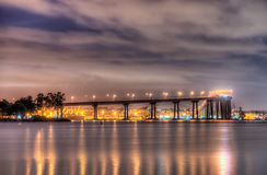 Coronado Bridge at Night Royalty Free Stock Photo