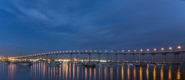 Coronado bridge in san diego bay Stock Photo