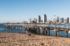 Coronado Ferry Landing Dock and Fishing Pier stock images