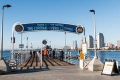Coronado Ferry Landing Entrance With Views of San Diego royalty free stock photos