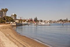 Coronado Coastline. This is the Coronado coastline with the Hotel Del Coronado and the yacht harbor in the background Stock Image
