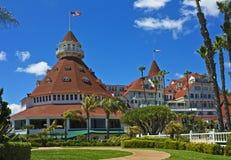 coronado del有历史的旅馆 免版税库存图片