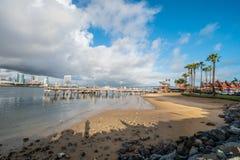 Coronado Ferry Landing Park in San Diego. Travel photography royalty free stock photo