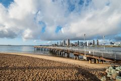 Coronado Ferry Landing Park in San Diego. Travel photography royalty free stock image