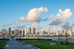 Coronado Ferry Landing Park in San Diego. Travel photography royalty free stock photography