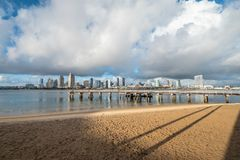 Coronado Ferry Landing Park in San Diego. Travel photography stock images