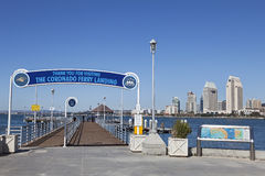 Coronado Ferry Pier & San Diego, California Stock Image