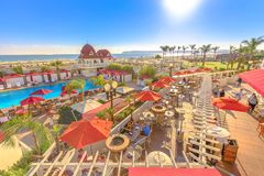 Coronado Hotel San Diego royalty free stock photo