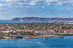 Coronado Island. View from Downtown San Diego royalty free stock images