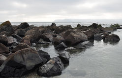 Coronado Island Rocky Shore Royalty Free Stock Images