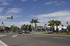 Coronado Island street in San Diego Royalty Free Stock Images
