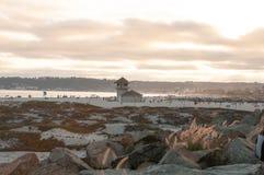 Coronado plaża, San Diego, usa, Kalifornia W kierunku wieczór obrazy stock