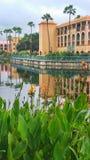 Coronado salta edificio de Casitas del centro turístico imagen de archivo