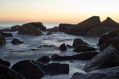 Coronado strandsolnedgång Arkivfoto