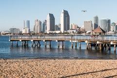 Coronadoveerboot die in San Diego County landen Stock Fotografie