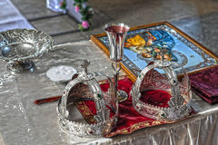 Coronas de la boda Imagenes de archivo
