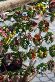 Coronas de la caja en la boda de Landshut Imágenes de archivo libres de regalías