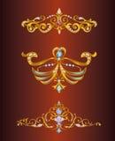 Coronas de oro del vector stock de ilustración