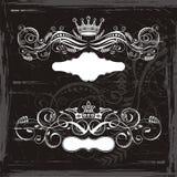 Coronas del rey y de la reina stock de ilustración