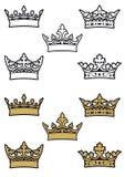 Coronas heráldicas Fotografía de archivo libre de regalías