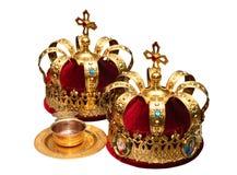 Coronas ortodoxas del Ceremonial de la boda Imagen de archivo